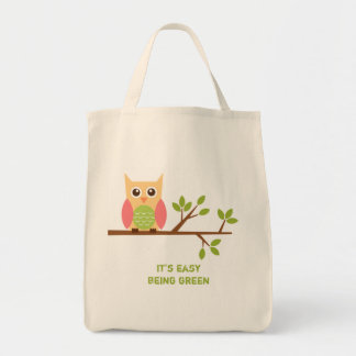 Owl grocery tote bags
