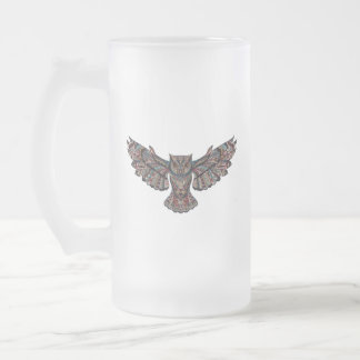 Owl groom bachelor party COLLECTION Frosted Glass Beer Mug