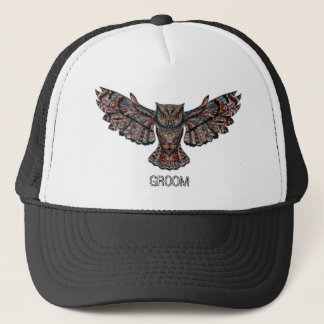 Owl groom bachelor party COLLECTION Trucker Hat
