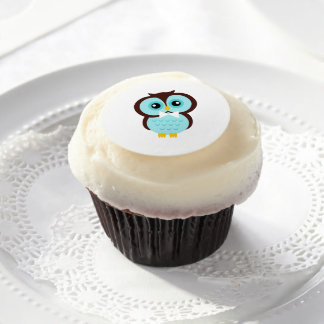Owl Groom Edible Frosting Rounds