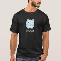 Owl Groom - Fun Design with Custom Text T-Shirt