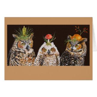 owl group greeting card