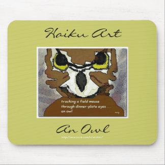 Owl Haiku Art Mousepad