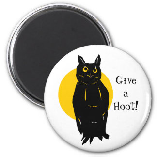 Owl Halloween GIve a Hoot Magnet