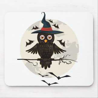 Owl Halloween Mouse Pad