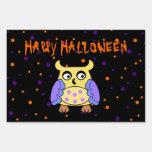 Owl halloween sign