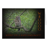 Owl Halloween Whoo Wishes You Greeting Card