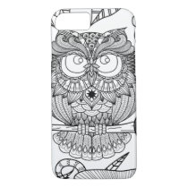 Owl hand drawn phone case