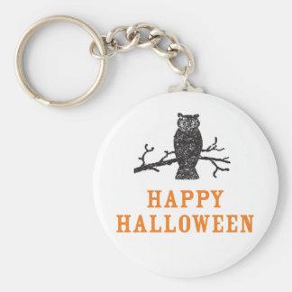 Owl Happy Halloween Keychain
