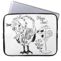 Owl - have fun computer sleeve