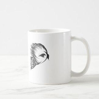 owl head in flight coffee mug