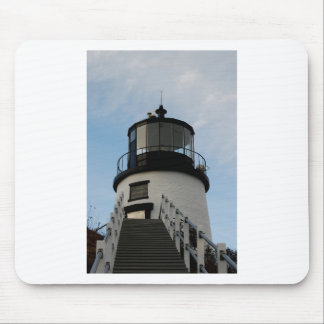OWL HEAD LIGHTHOUSE MOUSE PAD