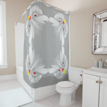 Owl head shower curtain