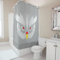 Owl head shower curtain