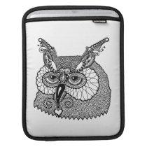Owl Head Zendoodle Sleeve For iPads