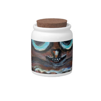 Owl heart eyes candy jars