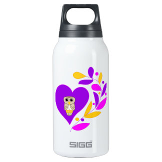 Owl Heart Insulated Water Bottle