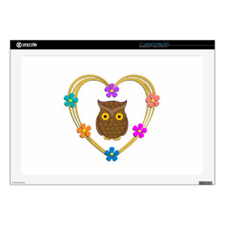 Owl Heart Laptop Decals