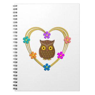 Owl Heart Notebook