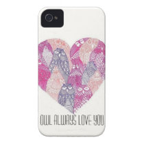 Owl Heart Phone Case