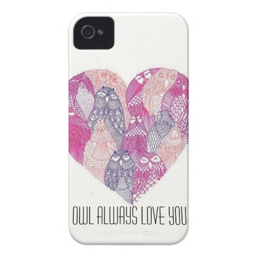 Owl Heart Phone Case iPhone 4 Covers