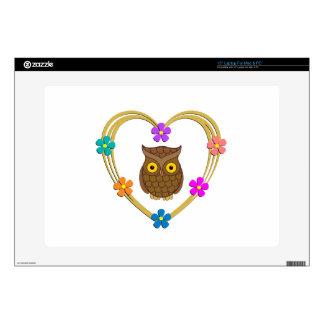 """Owl Heart Skins For 15"""" Laptops"""