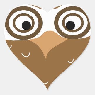 Owl Heart Sticker
