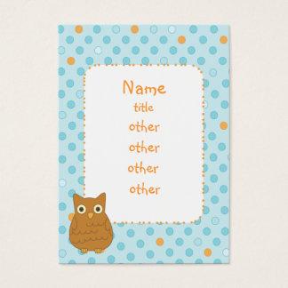 Owl Heart Tree Business Card
