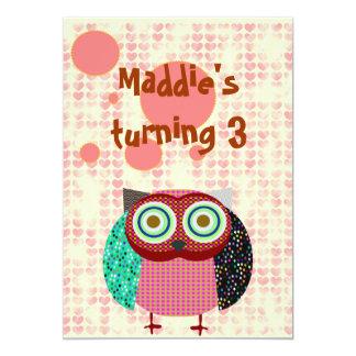 owl hearts card