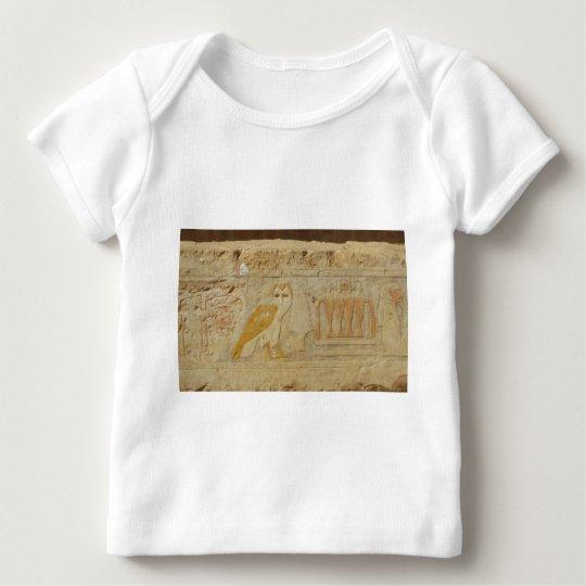 Owl Hieroglyph Detail, Hatshepsut Temple, Egypt Baby T-Shirt