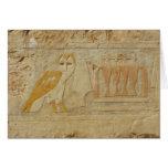 Owl Hieroglyph Detail, Hatshepsut Temple, Egypt Card