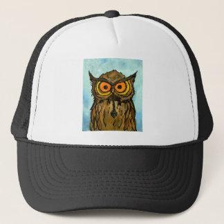 Owl Holding Treasure Trucker Hat