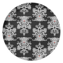 Owl hollow black melamine plate