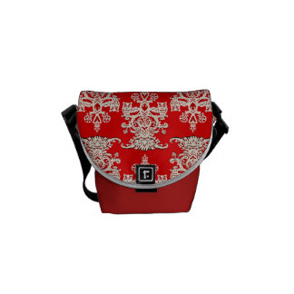 Owl hollow red courier bag
