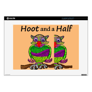 """Owl Hoot and a Half 15"""" Laptop Skin"""