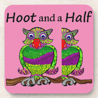 Owl Hoot and a Half Beverage Coaster