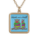 Owl Hoot and a Half Gold Plated Necklace