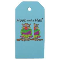 Owl Hoot and a Half Wooden Gift Tags