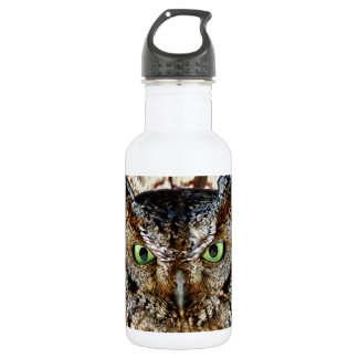 Owl Hoot Eyes Animal Bird 18oz Water Bottle