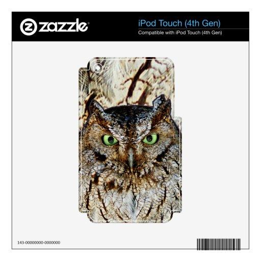 Owl Hoot Eyes Animal Bird Skin For iPod Touch 4G
