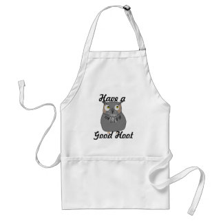 Owl hooting standard apron