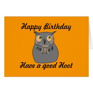 Owl hooting card