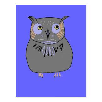 Owl hooting postcard