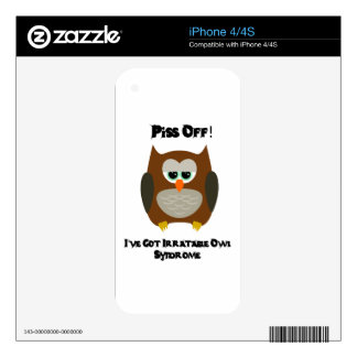 Owl Humor Skin For The iPhone 4S