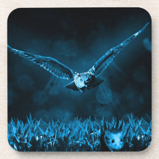 Owl Hunting Drink Coaster