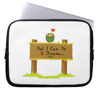 Owl I Can Do Is Dream Of Finding Love Laptop Sleeve
