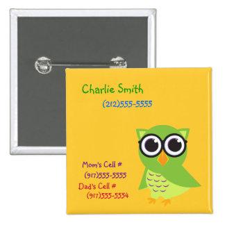 Owl Identification Button