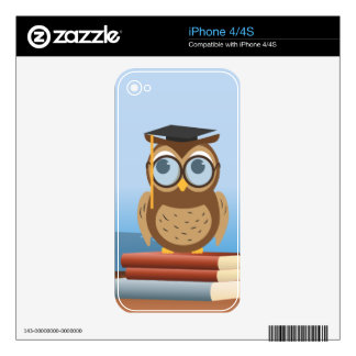 Owl illustration decal for the iPhone 4
