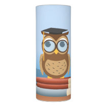 Owl illustration flameless candle