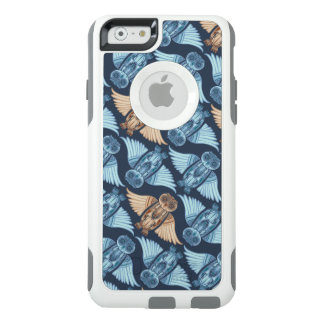 Owl illustration in abstract pattern. Nature, eco OtterBox iPhone 6/6s Case